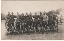 ARMEE BELGE- Photo Carte - Carabiniers - Cyclistes +Malmédy Le 27/8/32 - Barracks