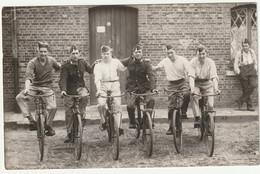 ARMEE BELGE- Photo Carte - Carabiniers - Cyclistes - Barracks