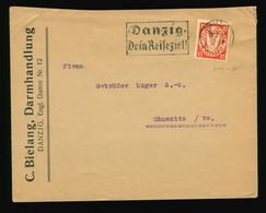 Beleg 1934 C. Bielang, Darmhandlung Engl. Damm 12, Danzig Gelaufen Nach Chemnitz Mit SST EF Mi Nr. 214 - Brieven En Documenten