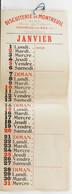 Calendrier Ancien.1erJanvier Circoncision DeJésus Juif De Naissance Fête Liturgique.Judaïca.biscuiterie Montreuil-s-Bois - Big : 1901-20