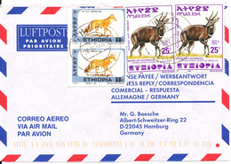 Ethiopia Air Mail Cover Sent To Germany 28-4-2001 - Etiopia