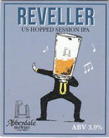 ABBEYDALE BREWERY   (SHEFFIELD, ENGLAND) - REVELLER SESSION IPA - PUMP CLIP FRONT - Signs