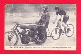 Sport-123Ph96  Nat BUTLER, Champion Américain De Demi-fond, Court Au Vélodrome D'hiver, Cpa - Cyclisme
