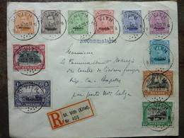 1920  Lettre MALMEDY  Cachet ST VITH   11 Stamps   PERFECT - Storia Postale