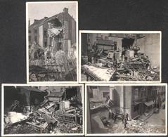 "Heist - Heyst -  Lot 4 Foto's Carte-Photos ""Na Beschieting"" Après Le Bombardement - Heist"
