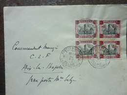 1921  Lettre  Cachet Postes Militaires   4 Timbres   PERFECT - Storia Postale