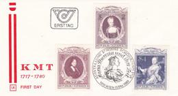 Austria Österreich AUTRICHE 1980 Todestag Kaiserin Maria Theresia MiNr: 1638-1640 - FDC