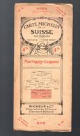 Carte MICHELIN (ancienne) Suisse  N°4  Martigny-Lugano 1/200.000e Parfait état (M2638) - Roadmaps