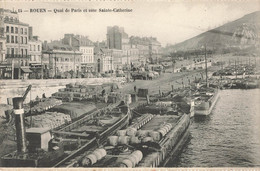 ROUEN : QUAI DE PARIS ET COTE SAINTE CATHERINE - Rouen