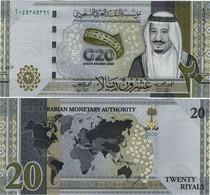 SAUDI ARABIA       20 Riyals       Comm.        P-New       2020 / AH1442         UNC - Saudi Arabia