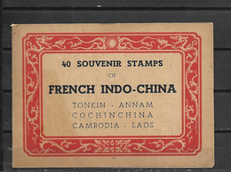 INDOCHINE CARNET INCOMPLET  ONLY 1 SHEET OF 20 STAMPS  TIMBRES LUXE NEUFS SANS CHARNIERE - Sonstige
