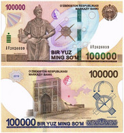 UZBEKISTAN 100000 SUM 2019 P NEW - UNC - Uzbekistan