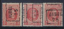 HOUYOUX Nr. 192 Voorafgestempeld Nr. 3508 A + B + C AUBEL 25 ; Staat Zie Scan ! - Rolstempels 1920-29