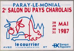 Autocollant 2ème Salon Du Pays Charolais - 28 Au 31 Mai 1987 - Paray Le Monial - Stickers