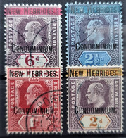 NOUVELLES HÉBRIDES 1908/09 - Canceled - YT 7, 8, 10, 13 - Ongebruikt