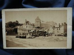 Photo CDV Anonyme - Dieppe Vue Du Vieux Château Circa 1880 L561 (2) - Oud (voor 1900)
