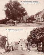 LES MOLIERES- ESSONNES -VALLEE DE CHEVREUSE- 2 CARTES -LA GRAND' PLACE -CARREFOUR DE LA BASTILLE - - Altri Comuni