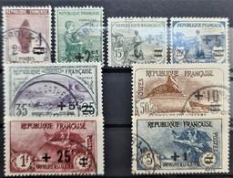 FRANCE 1922 - Canceled - YT 162-169 - Complete Set! - Orphelins - Usados