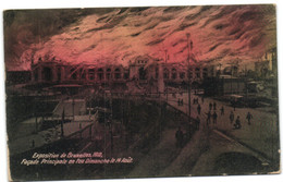 Exposition De Bruxelles 1910 - Façade Principale En Feu Dimanche Le 14 Août - Universal Exhibitions