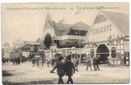Exposition Universelle De Bruxelles 1910 - Vue Générale Des Restaurants - Universal Exhibitions