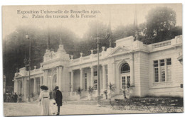 Exposition Universelle De  Bruxelles 1910 - Palais Des Travaux De La Femme - Universal Exhibitions