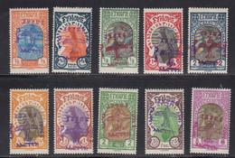 Ethiopie 1929 Poste Aerienne Yvert 1 / 10 * Neufs Avec Charniere Creation D'une Flotte Aerienne - Ethiopie