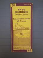 MICHELIN - ANCIENNE CARTE AU 1/1.000.000 - LES GRANDES ROUTES DE FRANCE - FRANCE NORD - N° 98 - 4e EDITION DECEMBRE 1929 - Callejero