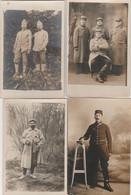 4 CARTE PHOTO:PORTRAIT SOLDAT BRASSARD CROIX ROUGE EN UNIFORME  GUERRE 1914-18 - Altri