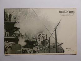BATEAU / MARINE - Coup De Canon - Carte Postale Chocolat Klaus Usines Suisse Et Doubs - Guerra