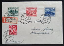 """Deutsches Reich 1939, Reko Satzbrief Mi 695-97 """"Nürburgring-Rennen"""" ASCHERSLEBEN Nach LUZERN - Brieven En Documenten"""