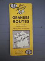 MICHELIN - ANCIENNE CARTE AU 1/1.000.000 - GRANDES ROUTES - FRANCE ENTIERE - N° 9899 -  EDITION 1939 - Callejero