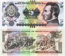 HONDURAS 5 LEMPIRAS 2014 P 98b - UNC - Honduras