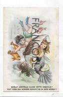 """Petit Garçon Plongeur. Sirène Dans Un Grand Coquillage. JC """"Quelle Merveille ... """". Bilingue - Contemporain (à Partir De 1950)"""