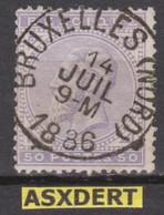 N° 41 SC  Bruxelles (Nord) 1886 - 1883 Leopold II