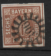 Bayern,  Gestempelter Wert Der Ausgabe Von 1850 - Beieren