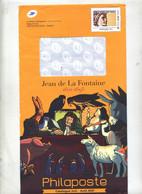 Pap Sabine Jean De La Fontaine + Lettre Reponse T - PAP : Altri (1995-...)