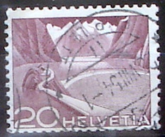 Schweiz Suisse 1949: Grimsel Rolle Rouleau Coil Zu 301ARM.02 Mi 533IIIRI # L8695 Mit O LAUSANNE 25.VIII.54 (Zu CHF 8.50) - Franqueo