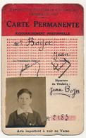 Marseille (Bouches Du Rhône) - Carte Permanente EXPOSITION NATIONALE COLONIALE 1922 - Tickets - Vouchers