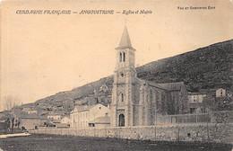 ANGOUSTINE - Eglise Et Mairie - Très Bon état - Otros Municipios