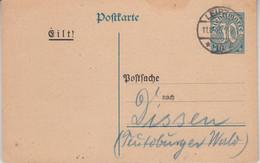DR - 30 Pfg. Dienst Ganzsache Formularaufbrauch Postsache Leipzig - Dissen 1925 - Covers & Documents
