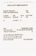Biglietto Duplicato Abbonamento Traforo Monte Bianco Tunnel Du Mont Blanc (5,4x8,5) - Unclassified