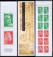 """2021 CARNET """" PREMIER JOUR 1951 - 2021 """" ** TTB  MARIANNE L'ENGAGÉE + GANDON - Conmemorativos"""
