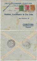 Brazil 1930 Commercial Cover From Porto Alegre To Curitiba Airmail Varig 700 1,300 Réis + Stamp Cancel Syndicato Condor - Posta Aerea (società Private)