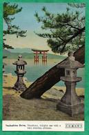 Hiroshima Itsukushima Shrine (Hatsukaichi Japan) Delights One With A Torii Standing Offshore 2scans - Hiroshima