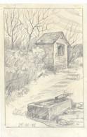 Retinne (Fléron) Dessin Format Carte Postale Chapelle Ste Julienne (25-3-1945) - Otros