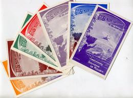 Gde SEMAINE D' AVIATION - ROUEN 1910 - BELLE & TRES RARE SERIE De 7 TONS DIFFERENTS D'une CARTE  Par MAURY  (série B)  - - Reuniones