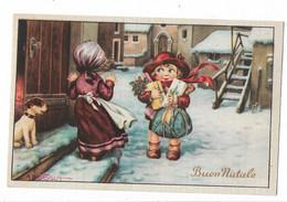 CARD BERTIGLIA BUON NATALE BIMBO CON REGALI PANETTONE CANE-FP-N-2-0882-30120 - Bertiglia, A.