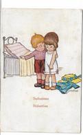 CARD BERTIGLIA  SEDUZIONE SEDUCTION LETTINO A UNA PIAZZA LEI VERGOGNOSA IN SOTTOVESTE -FP-V-2-0882-30124 - Bertiglia, A.