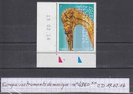 France Europa: Instruments De Musique (2014) Y/T Coin Daté  N°4860 Du 19.02.14  Neuf ** - Nuovi