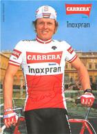 CARTE CYCLISME SIMONE FRACCARO SIGNEE TEAM CARRERA - INOXPRAN 1984 - Radsport